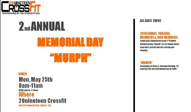 CrossFit 2019 Murph